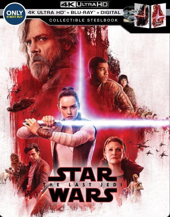 Star Wars: The Last Jedi [SteelBook] [Digital Copy] [4K Ultra HD Blu-ray/Blu-ray] [Only @ Best Buy] [2017] 6166202