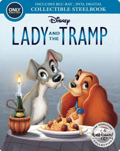 Lady and the Tramp [Signature Collection] [SteelBook] [Blu-ray/DVD] [Only @ Best Buy] [1955] 6166205
