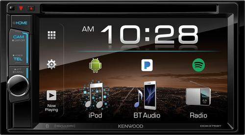 "Kenwood - 6.2"" - Built-in Bluetooth - In-Dash DVD Receiver - Black"
