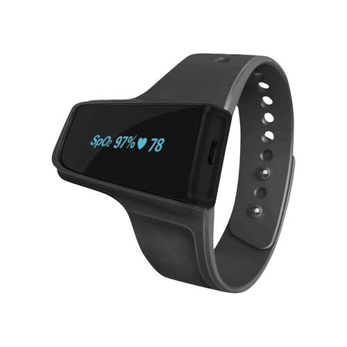 BodiMetrics - O2 Vibe Sleep & Fitness Monitor Activity Tracker + Heart Rate - Black