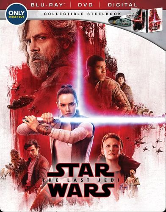 Star Wars: The Last Jedi [SteelBook] [Includes Digital Copy] [Blu-ray/DVD] [Only @ Best Buy] [2017]