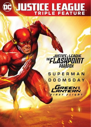 Justice League Triple Feature: Flashpoint Paradox/Superman Doomsday/Green Lantern: First Flight [DVD] 6173624