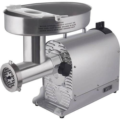 Weston - Pro Series #32 Electric Meat Grinder and Sausage Stuffer - Silver 6175526