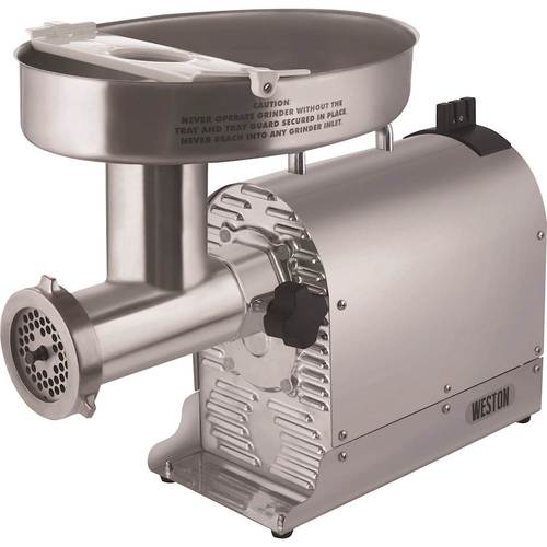 Weston - Pro Series #22 Electric Meat Grinder and Sausage Stuffer - Silver 6175534