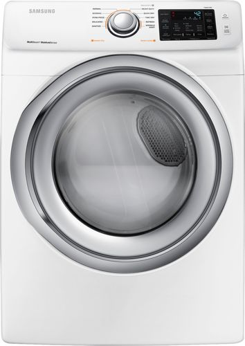 Samsung - 7.5 Cu. Ft. 10-Cycle Gas Dryer with Steam - White