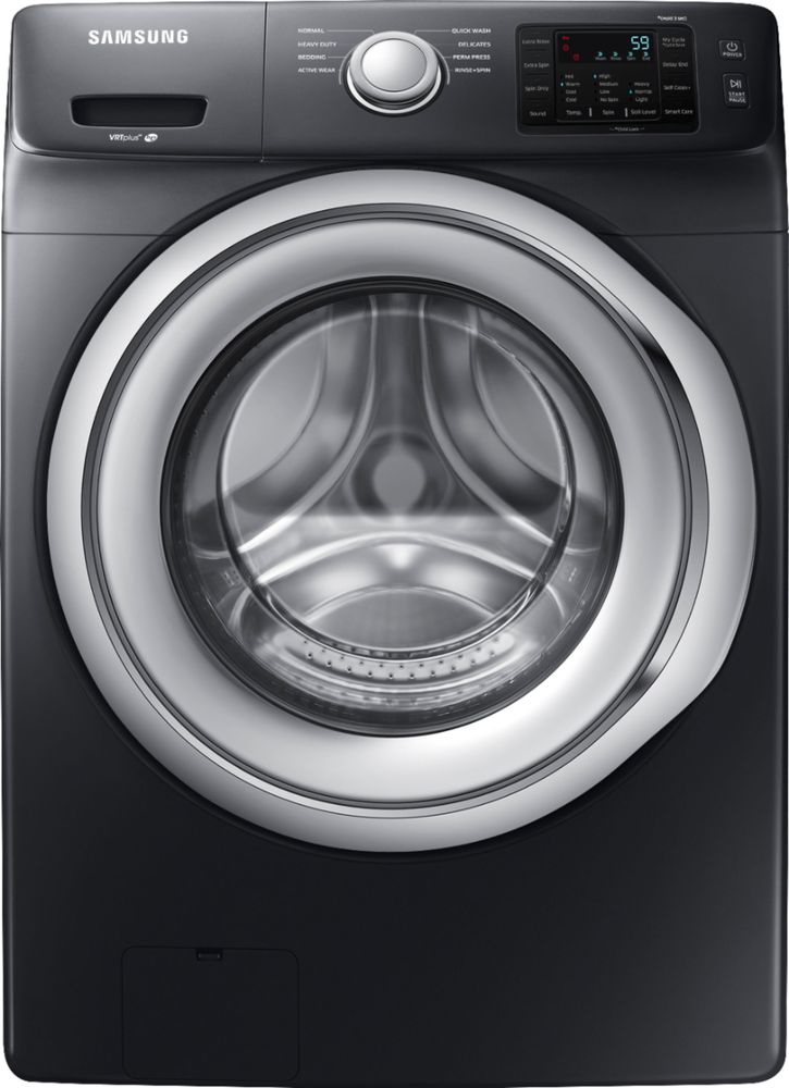 Samsung 4.5 Cu. Ft. 8-Cycle Front-Loading Washer Black stainless steel WF45N5300AV