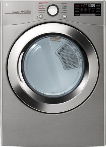 LG Electronics 7.4 cu. ft. Ultra Large Capacity Graphite Steel Electric Dryer with Sensor Dry, TurboSteam and Wi-Fi Connectivity