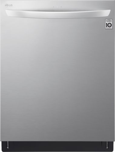"LG - 24"" Top Control Built-In Dishwasher with Stainless Steel Tub - Stainless steel"