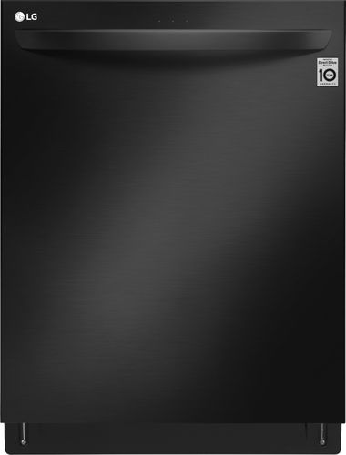 "LG - 24"" Top Control Built-In Dishwasher with Stainless Steel Tub - Matte Black Stainless Steel"