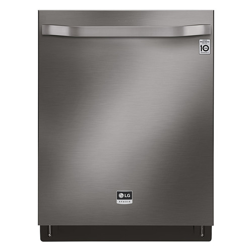 "LG - 24"" Top Control Built-In Dishwasher with Stainless Steel Tub - Black stainless steel 6182523"