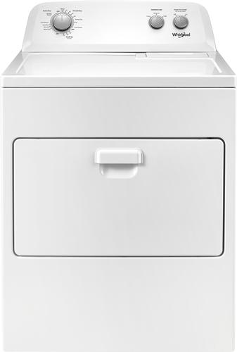 Whirlpool - 7 Cu. Ft. 12-Cycle Electric Dryer - White 12 drying programs; top loading type; powder coated drum