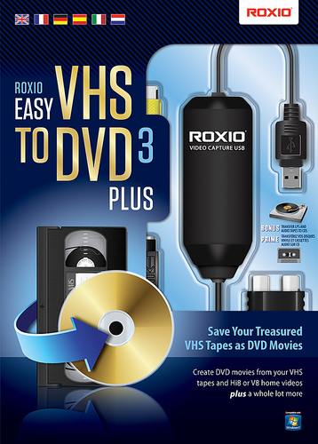 Roxio Easy VHS to DVD 3 Plus - Box pack - 1 user - DVD - Win