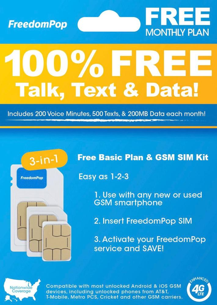 FreedomPop FPLTESIMVDFREE largeFrontImage
