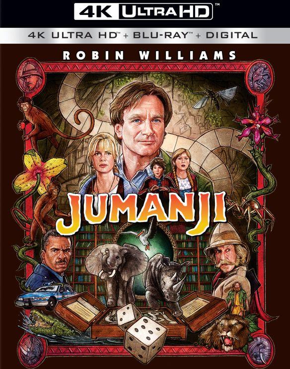 Jumanji [Includes Digital Copy] [UltraViolet] [4K Ultra HD Blu-ray] [2 Discs] [1995] 6188302