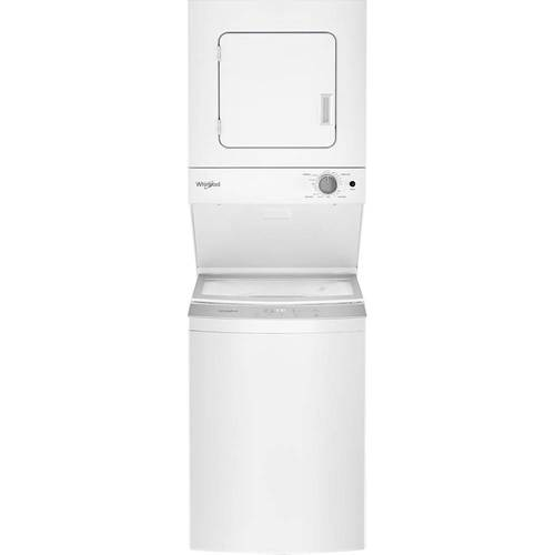 Whirlpool - 1.6 Cu. Ft. 6-Cycle Washer and 3.4 Cu. Ft. 4-Cycle Dryer Electric Laundry Center - White 6189305