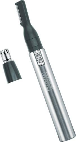 Wahl - 2-in-1 Stainless Steel Lithium Pen Trimmer - Silver/Black 6190508