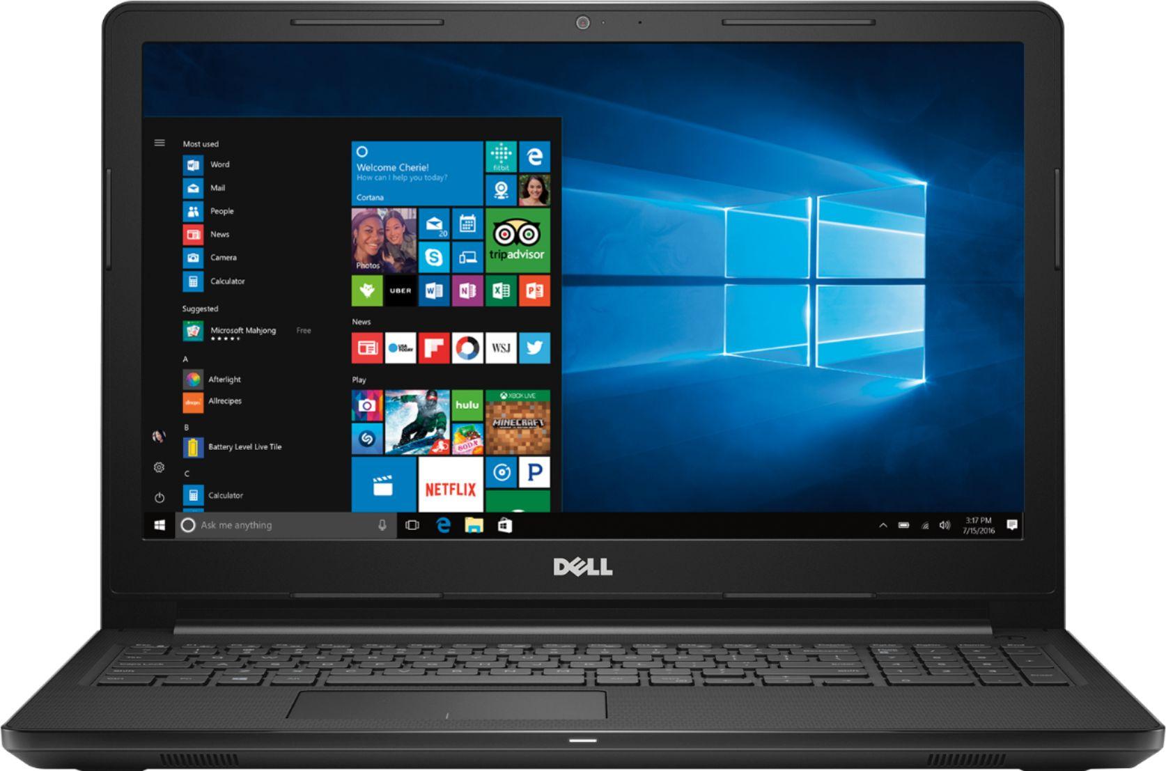 "Dell - Inspiron 15.6"" Laptop - AMD A6-Series - 4GB Memory - AMD Radeon R4 - 500GB Hard Drive - Black"