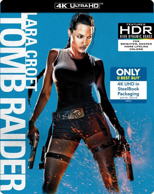 Lara Croft: Tomb Raider [Includes Digital Copy] [4K Ultra HD Blu-ray] [SteelBook] [Only @ Best Buy] [2001] 6192001