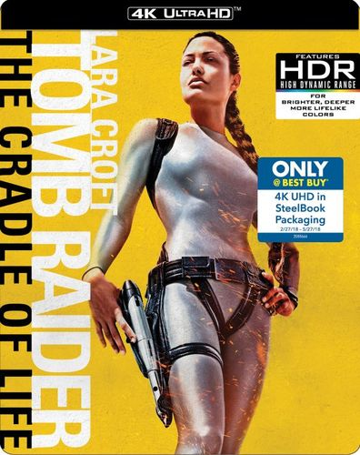 Lara Croft Tomb Raider: The Cradle of Life-SteelBook[Dig Copy][4K Ultra HD Blu-ray][Only@Best Buy] [4K Ultra HD Blu-ray] [2003] 6192002