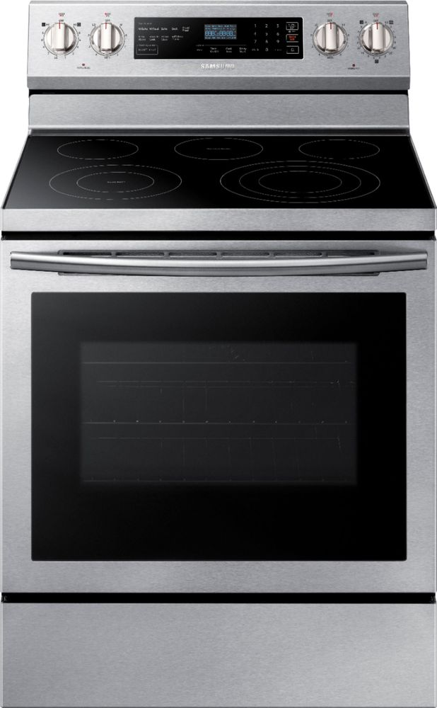 Samsung 5.9 Cu. Ft. Self-Cleaning Freestanding Electric Convection Range Stainless steel NE59N6630SS