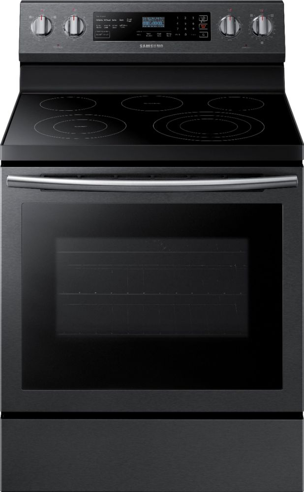 Samsung 5.9 Cu. Ft. Self-Cleaning Freestanding Electric Convection Range Black stainless steel NE59N6630SG