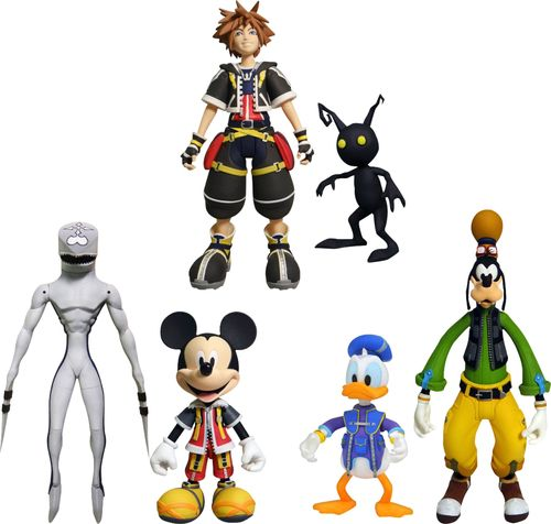U&I Entertainment Kingdom Hearts Best Of Slim Action Figures