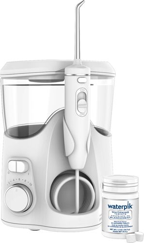 Waterpik - Whitening Water Flosser - White With Chrome Accents