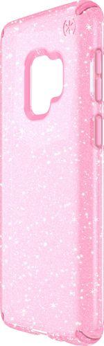 Speck Presidio Clear + Glitter for Samsung Galaxy S9, Gold Glitter/Bella Pink
