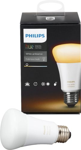 Philips Hue White Ambiance A19 Wi-Fi Smart LED Bulb CA Only White 530279