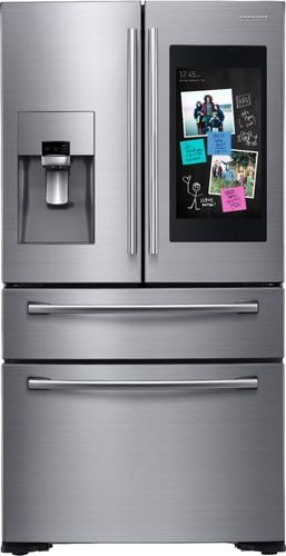 Samsung 27.7 cu. ft. Family Hub 4-Door French Door Smart Refrigerator in Stainless Steel