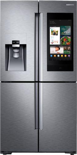 Samsung 27.9 cu. ft. Family Hub 4-Door French Door Smart Refrigerator in Stainless Steel with FlexZone