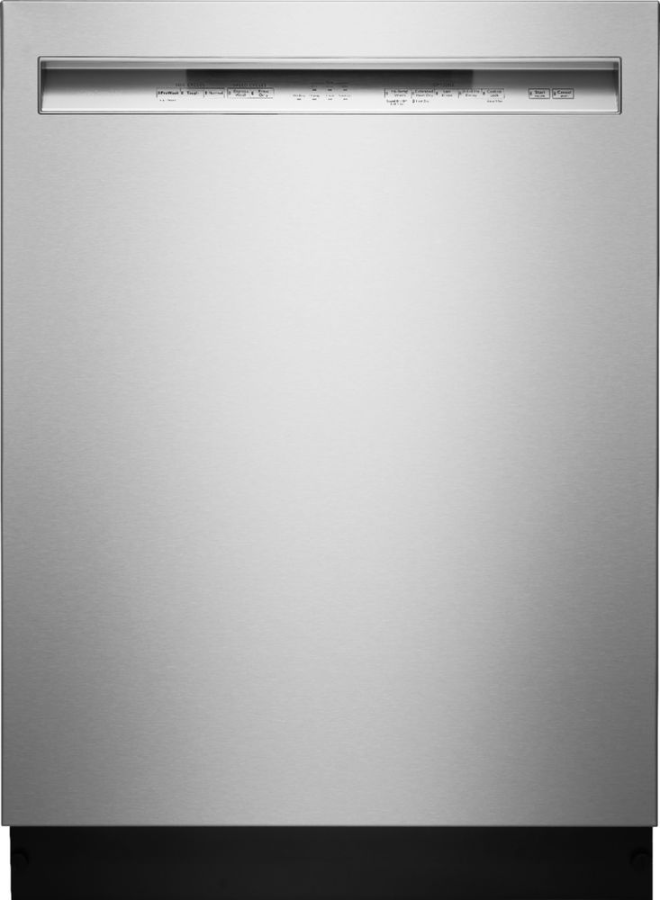 """KitchenAid KDFE104HPS 24"""" Front Control Tall Tub Built-In Dishwasher with Stainless Steel steel"""