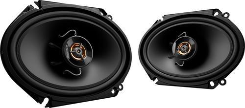 """Kenwood - Road Series 6"""" x 8"""" 2-Way Car Speakers with Cloth Cones (Pair) - Black"""