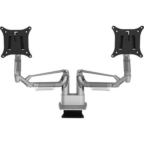 Kanto Dms Series Dual Arm Desktop Monitor Mount Silver Thumbnail