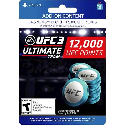 12,000 UFC 3 Points