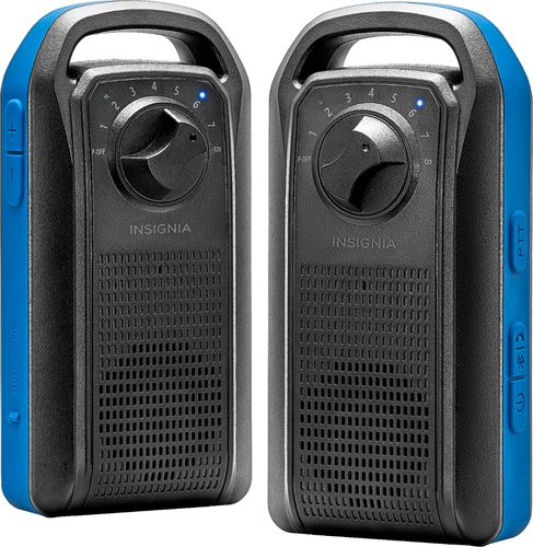 Insignia™ - Portables Speaker with Walkie-Talkie - Black
