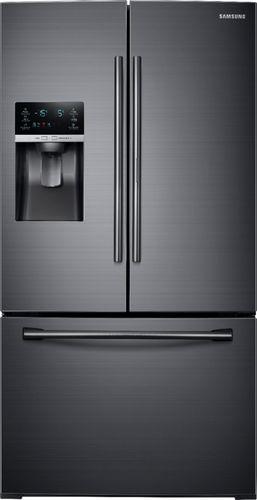 Samsung - 27.8 cu. ft. French Door Refrigerator with Food ShowCase Fridge Door - Fingerprint Resistant Black Stainless Steel 6201029