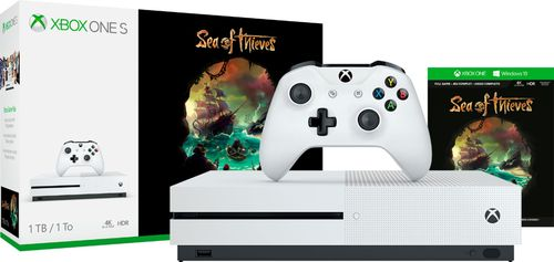 Microsoft - Xbox One S 1TB Sea of Thieves Bundle with 4K Ultra HD Blu-ray - White 6202205