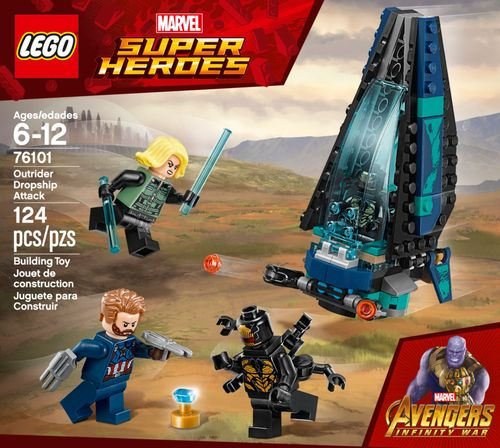 LEGO Super Heroes Marvel Avengers Movie Outrider Dropship Attack 76101