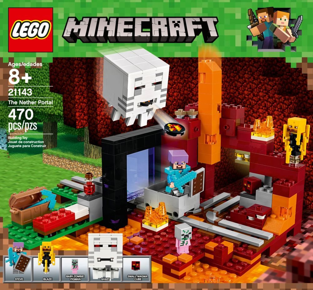 Lego Minecraft 21119 Compare Best Prices Online Shopping 21134 The Waterfall Base Nether Portal