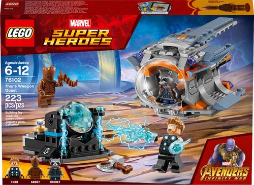 LEGO Super Heroes Marvel Avengers Movie Thors Weapon Quest 76102