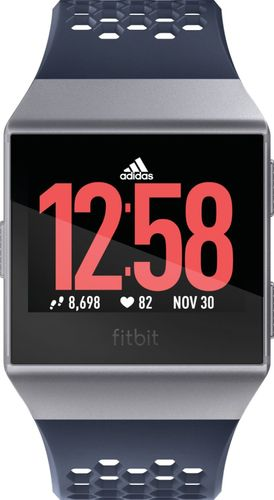 Fitbit - Ionic Adidas Edition Smartwatch - Ink Blue/Ice Gray/Silver Gray