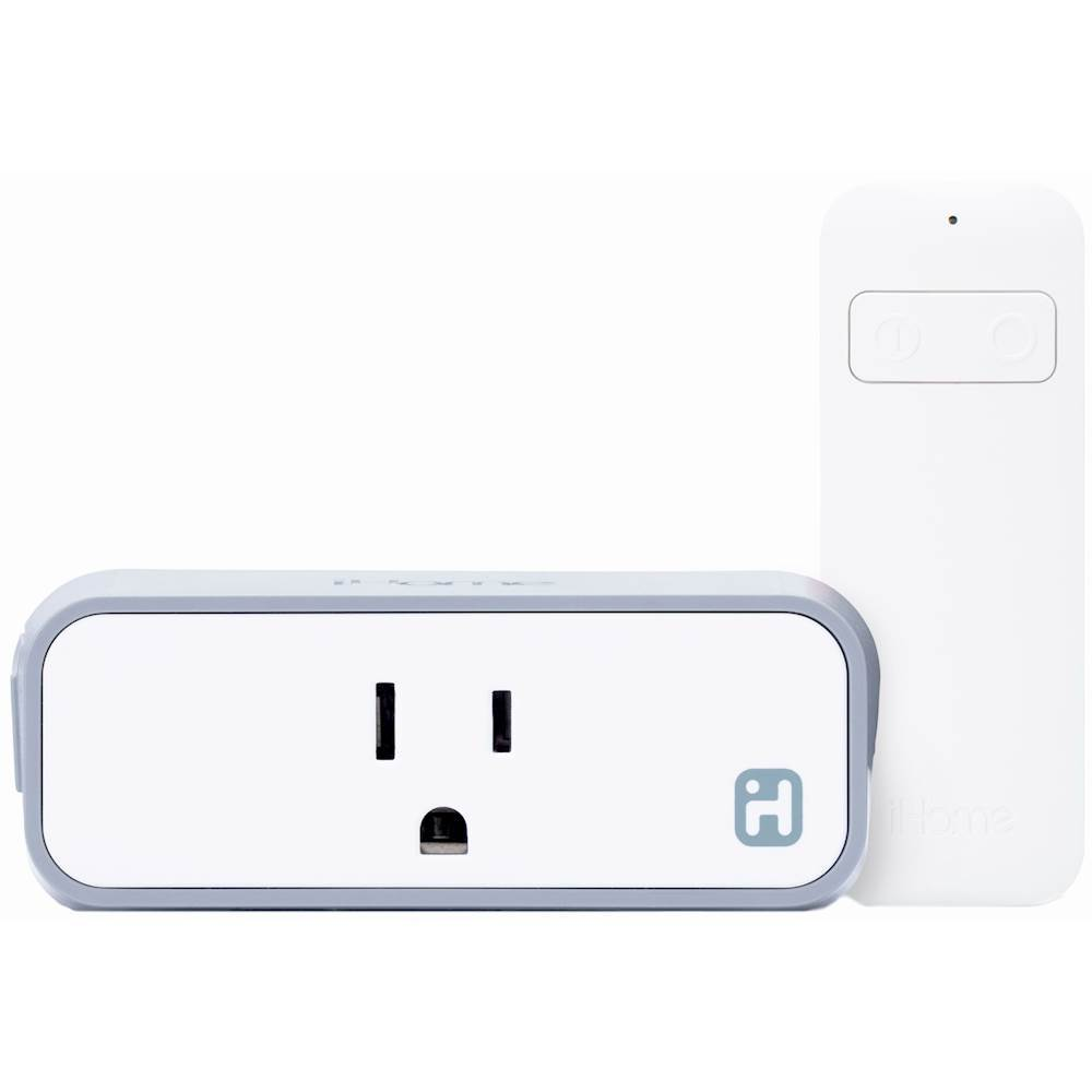 iHome iSP8 SmartPlug with Remote Control White ISP8WC4