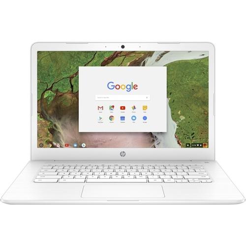 HP Chromebook 14 Celeron 14 inch IPS eMMC White