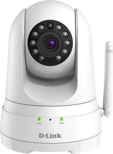 D-Link - DCS Pan and Tilt Indoor 1080p Wi-Fi Network Surveillance Camera - White