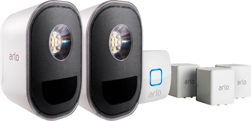 Arlo - Indoor/Outdoor Smart Home Security Lights. Wire-Free, Weather Resistant, Motion Sensor, Rechargeable (2-Pack) ALS1102B-100NAS