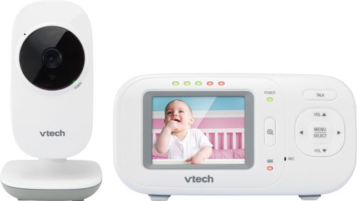 """VTech - Video Baby Monitor with 2.4"""" Screen - White 6205800"""