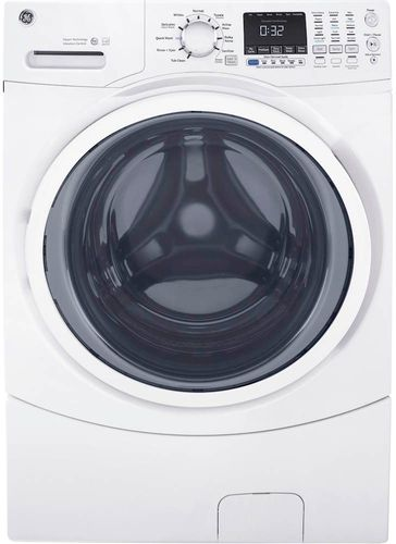 GE 4.5 cu. ft. High-Efficiency White Front Load Washing Machine with Steam, ENERGY STAR