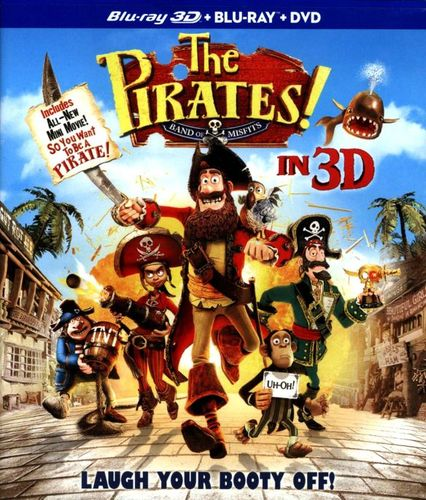 The Pirates! Band of Misfits [3 Discs] [Includes Digital Copy] [UltraViolet] [3D] [Blu-ray/DVD] [Blu-ray/Blu-ray 3D/DVD] [2012] 6209434