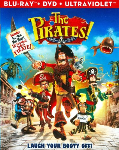 The Pirates! Band of Misfits [2 Discs] [Includes Digital Copy] [UltraViolet] [Blu-ray/DVD] [2012] 6209461